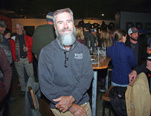 P.T. Wood is surrounded by his supporters Tuesday at Soulcraft Brewing. Wood won the race to become Salida_s next mayor_ according to unofficial election results.