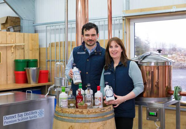 Martin and Claire Murray have developed the most northern distillery on the mainland of Scotland in the area they spent their childhoods