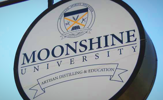 Moonshine University sign