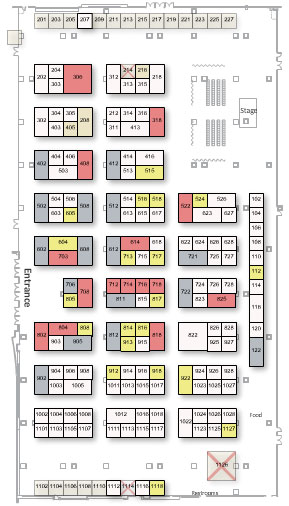 2018 Exhibitor booth floor plan