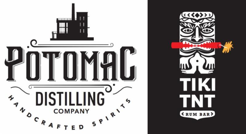 Potomac Distilling_TIKI TNT logos