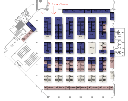 ADI 2017 Vendor Expo floor plan