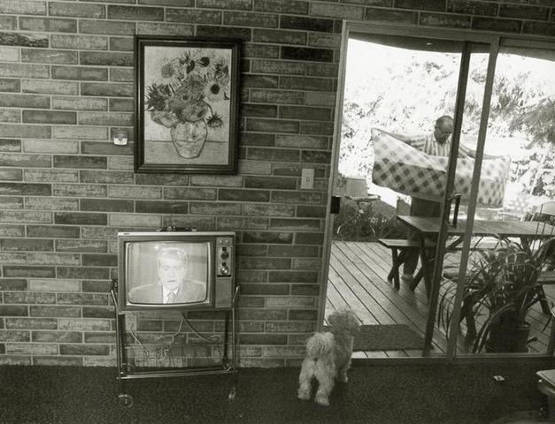 Bill Owens photo - Nixon on TV