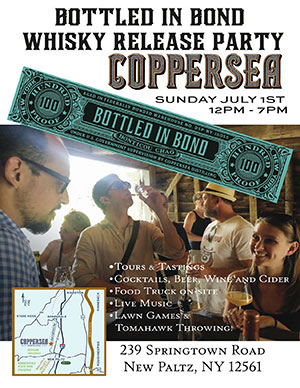 Coppersea Distilling Bottled in Bond Whisky Release party poster