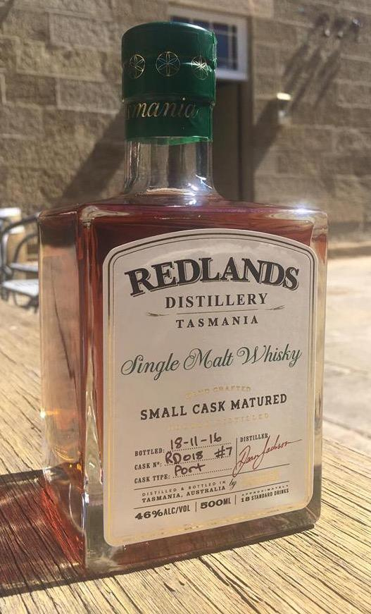 Redlands Distillery Small Cask Matured Release