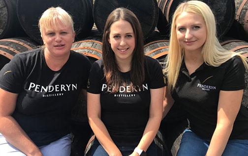 Penderyn distillery_s all-female distilling team