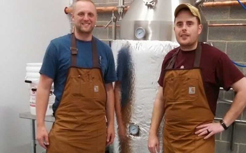 Ryan Vierheller and Walker Dunbar of Blue Dyer Distilling.