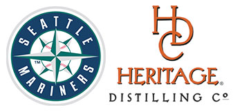 Heritage Distilling and Seattle Mariners logos