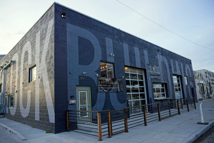 The Block Distilling is located inside the Block building in Denver_s RiNo district.