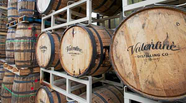 Valentine Distilling Co. barrels