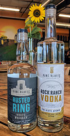 Pine Bluffs Vodka and Whiskey