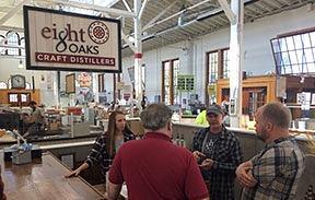 eight Oaks distillery booth at PA farmer_s market