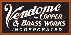 Vendome copper and brass works logo