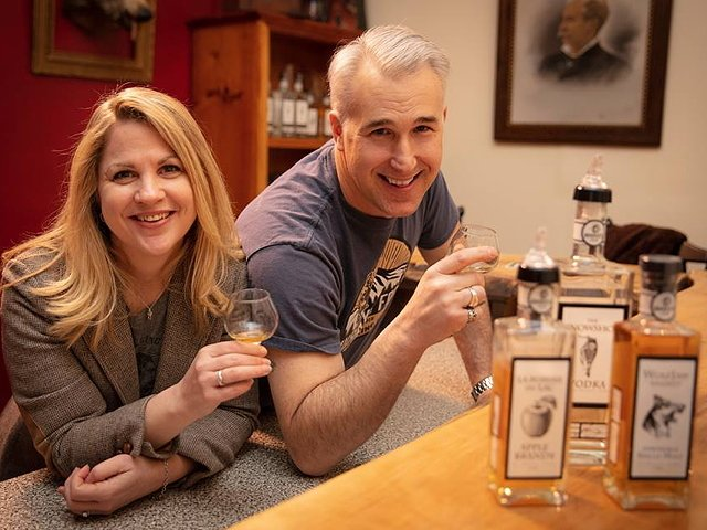 Sarah and Randall Beach_ owners of Murray_s Fools Distilling