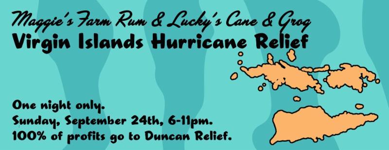 Maggie_s Farm Rum relief effort for Virgin Islands