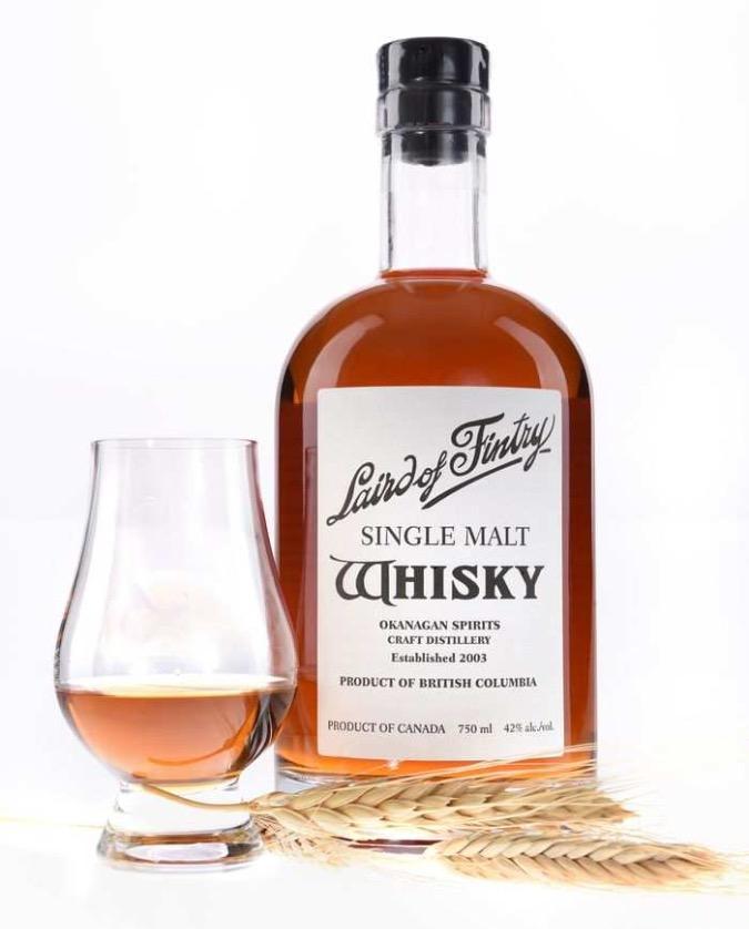 The Laird of Fintry single malt whisky from Okanagan Spirits Craft Distillery.