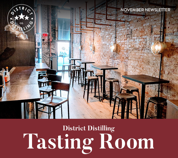 District Distilling tasting room