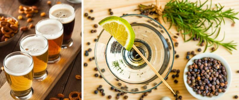 craft beer_gin and juniper berries
