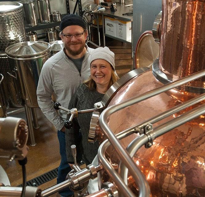 Alan and Julia Scott of Waterpocket Distillery in UT