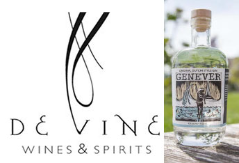 deVine Spirits logo and bottle of Genever