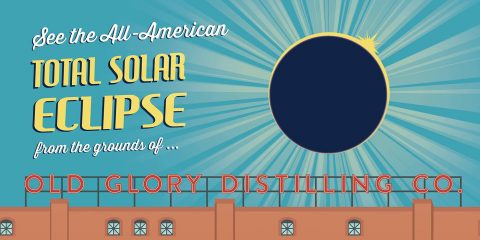total solar eclipse viewing party at Old Glory Distilling Co.