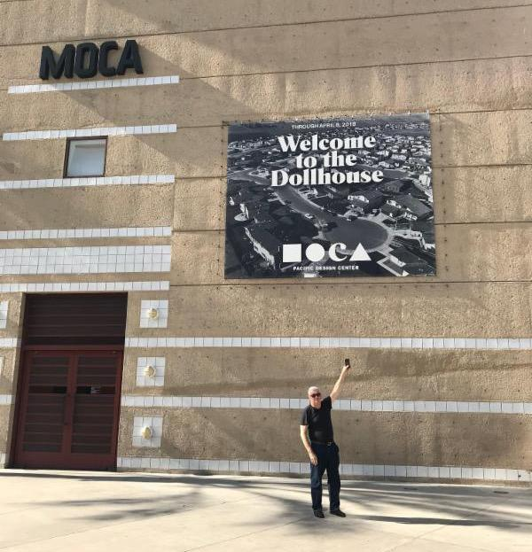 Bill Owens at MOCA_ in Los Angeles for the opening of _Welcome to the Dollhouse_ exhibit.
