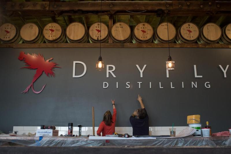 Dry Fly Distilling tasting room in Spokane.