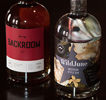 WildJune Western Style Gin and Backroom Rye from District Distilling