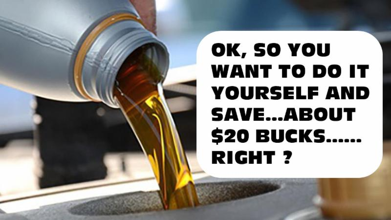Cheapest oil change youll find thats a promise solutioingenieria Choice Image