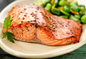 Sockeye Salmon Fillets Cooked
