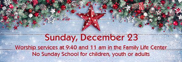 December 23 Worship