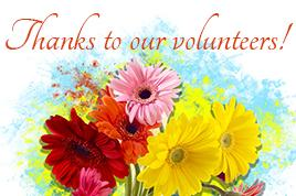 Thanks to volunteers