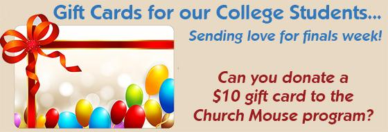 Church Mouse Gift Cards