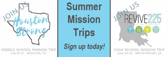 Summer Mission Trips