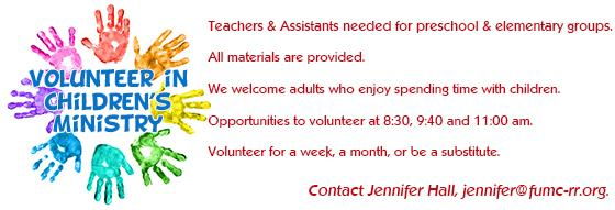 Children's Volunteer Needs