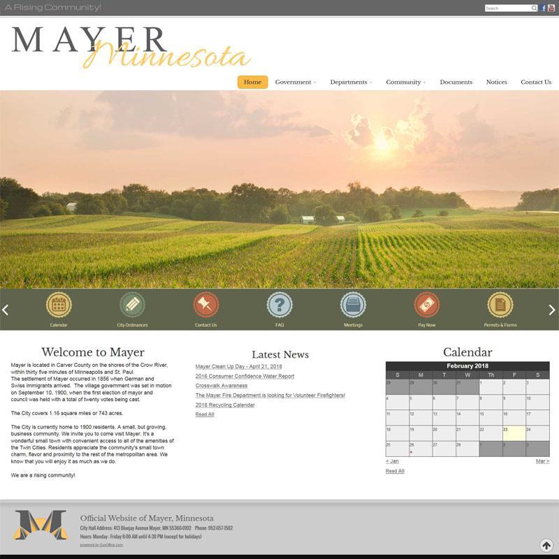 Mayer Minnesota Website