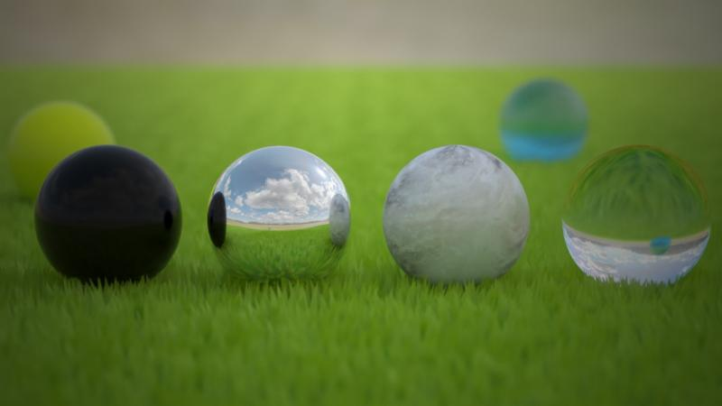 Marbles on Grass
