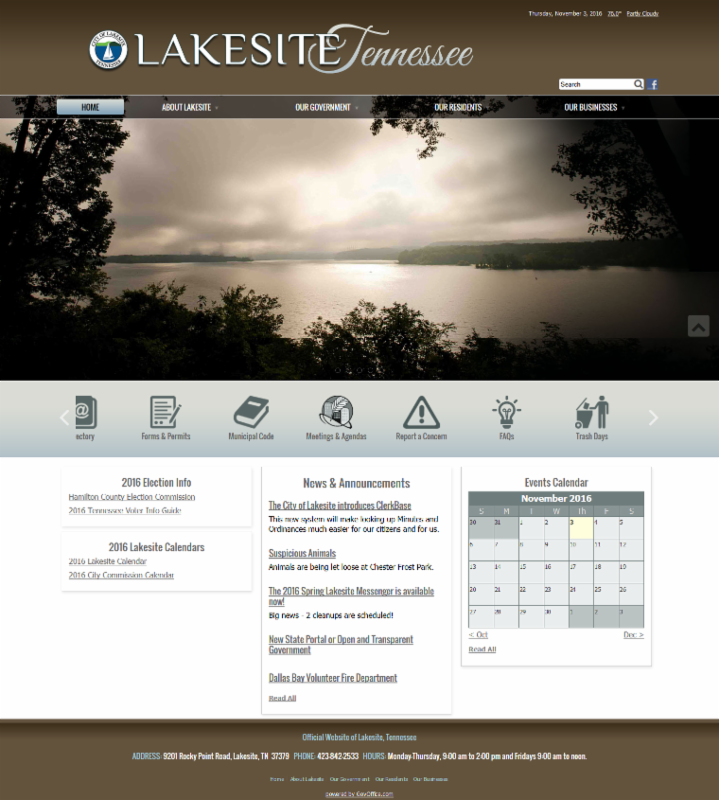 Lakesite Tennessee Website