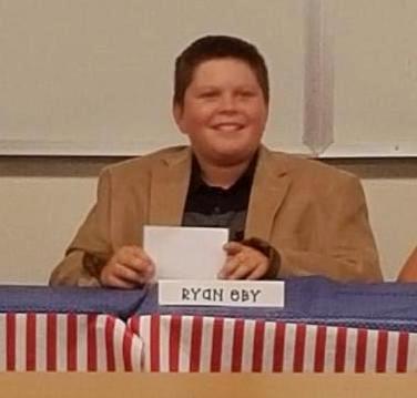 Ryan Eby from Banyan Elementary School in Newbury Park