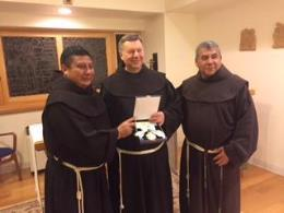 Hermano Pedro Award (L-R) Friars Jesus Gomez, Robert Campagna, and German Taz