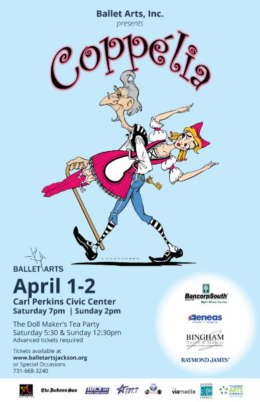 Celebrate the Spring with Ballet Arts!  Coppelia is coming soon!!