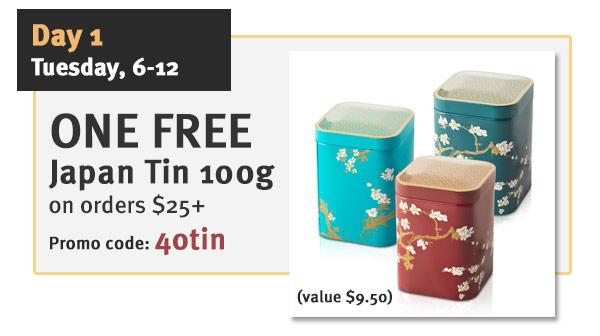 FREE tin tea 100g