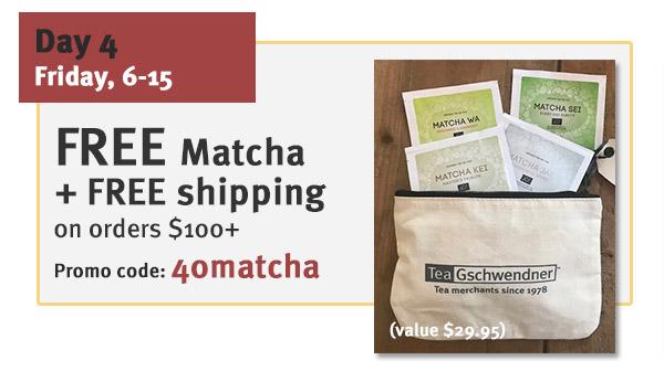FREE Matcha Sampler