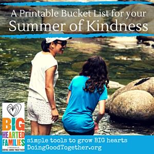 DGTs  Innovative Summer of Kindness bucket lists