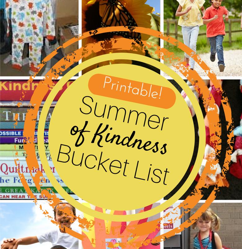 Summer of Kindness bucket lists.