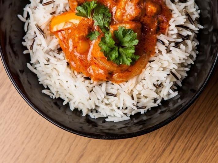 Chicken tikka masala—slow-cooked