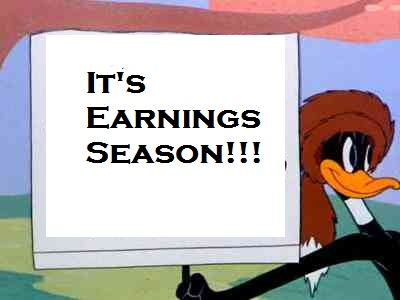 It's earnings season!!!
