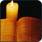 Advent Bible and Candle