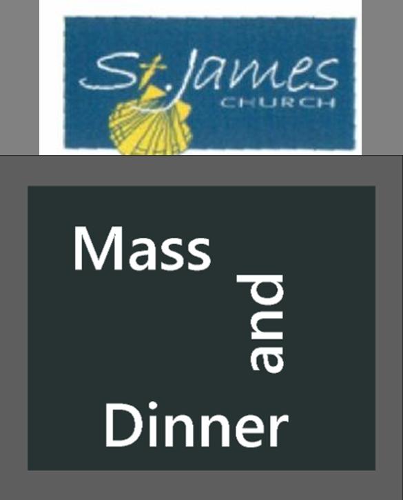 st. james mass and dinner