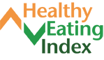 Healthy Eating Index logo in orange and green